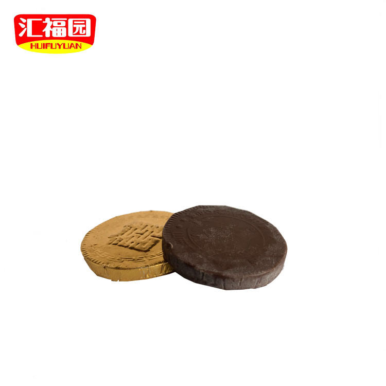Factory supply sweet big size ronde gouden munt chocolade