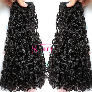 Hot In Nigerian Wholesale Cuticle Aligned Funmi Style 12A Pixie Curl Super Double Drawn Hair