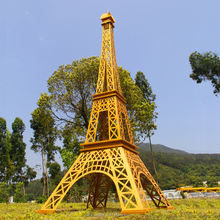 Famous French Large Eiffel Tower Metal Iron Sculpture Statue