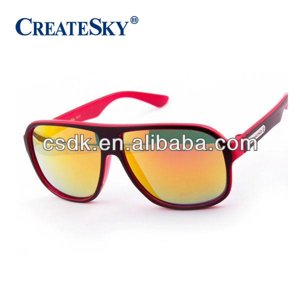 Biohazard Square Flat Top Men/'s Women/'s Sunglasses Translucent 2 Tone Frame