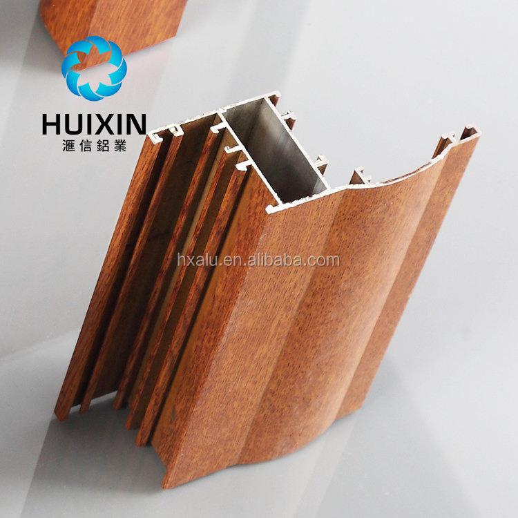 Wooden grain aluminum extrusion profile for window and door