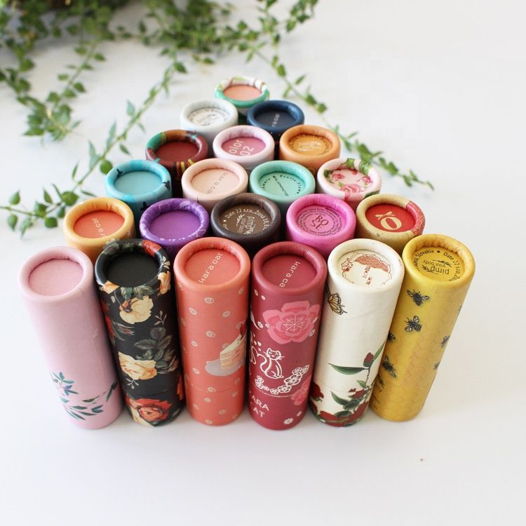 Environmental protection paper tube for lip balm