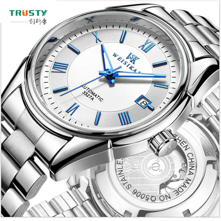 French Luxury Brand Automatic Waterproof Watch Stainless Steel Watch For Wen