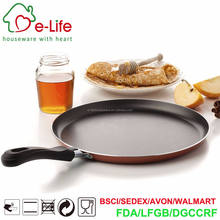 10 Inch Nonstick Coating & Bakelite Handle Crepe Pancake Pan with Induction Bottom