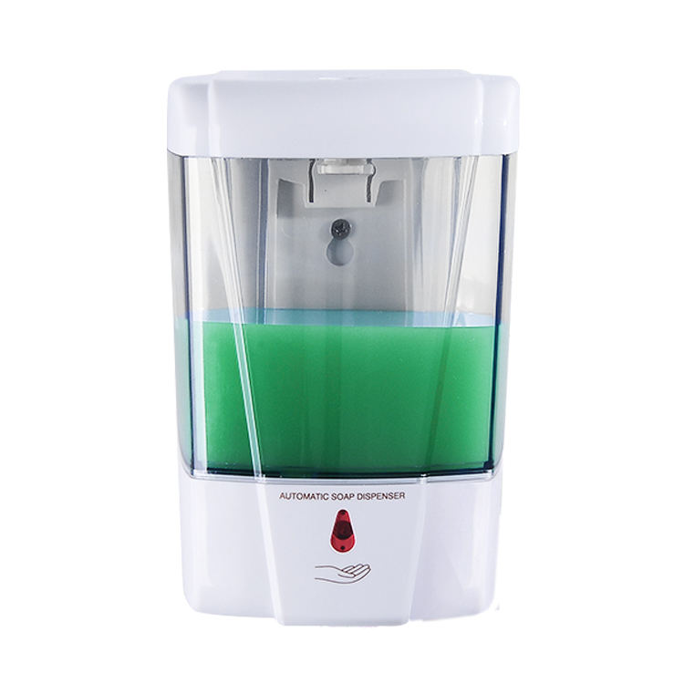 High quality wall mounted refillable large capacity automatic plastic liquid soap dispenser for bathroom and kitchen