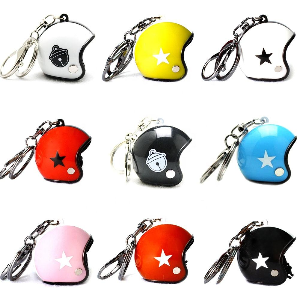 Promotional Mini 3D Helmet Key Chain Custom Plastic Motorcycle Helmet Keychain
