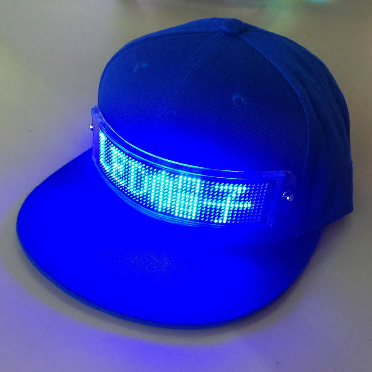 USB Charging App Control Scrolling Light Display Hat, Message Led Cap, Led Message Hat