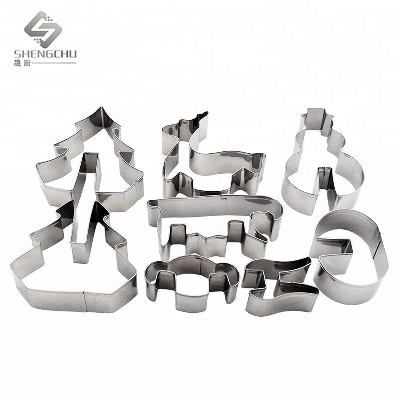 3D Christmas Scenario Cookie Cutter Set Stainless Steel Mold
