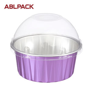 125ML/4OZ ABL PACK Aluminium Foil Containers for Cake Packaging Cupcake Baking Cups Disposable Aluminium Cup