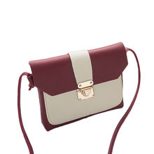 Fashion simple design small pu leather woman shoulder bag