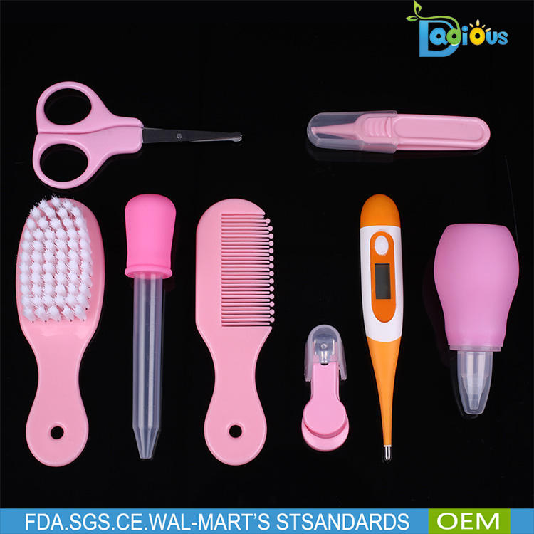 Baby Nail Hair Daily Nurse Tool Product 8Pcs Baby Grooming Set