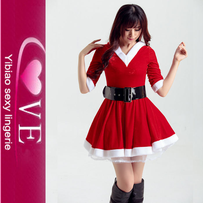 No Minimum Order Xmas Sexy Santa Claus Dresses Costume For Women