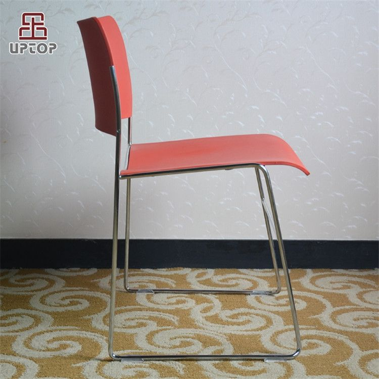 (SP-UC509) Sled base corporate stacking plastic steel chair