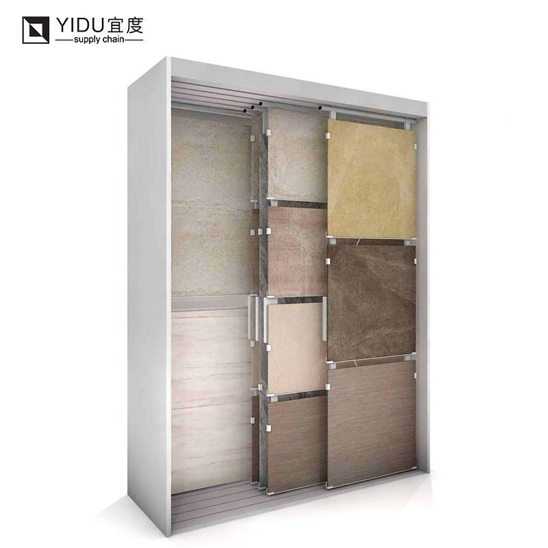 High quality parquet wood flooring stand box carton porcelain tile laminate wood flooring stone tile display stand