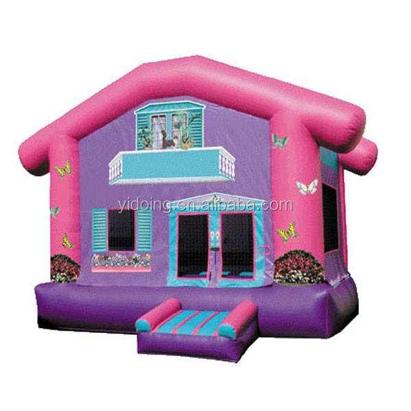 Popular purple inflatable cartoon castle for girls B1026