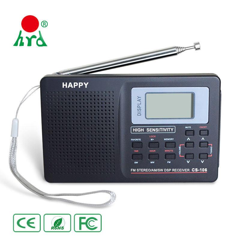 Kablosuz Ham Amatör Radyo Anten Mini Am Fm Taşınabilir Radyo