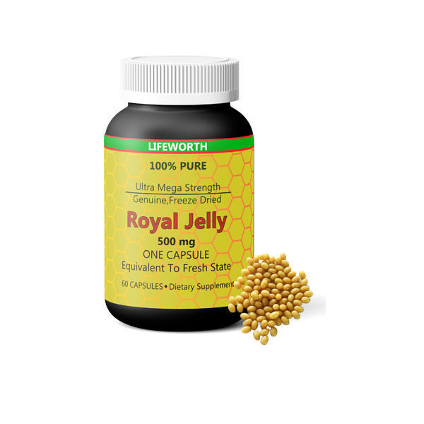Lifeworth organische 1000 mg royal jelly capsules