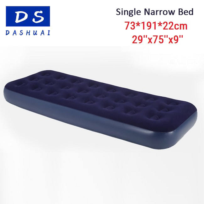 OEM Double single Flocked Airbed Downy Queen Size inflatable Air Bed Mattress