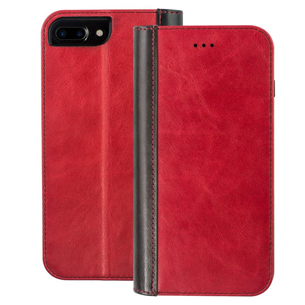 Xguo assorted colors genuine leather case for iphone 8 flip leather wallet case