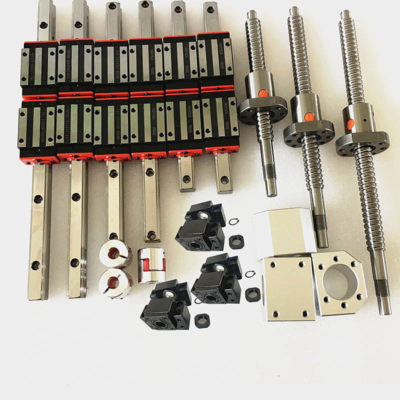 New ballscrew SFU1605-400/700/1000 set with BKBF12 and linear guide cnc kit