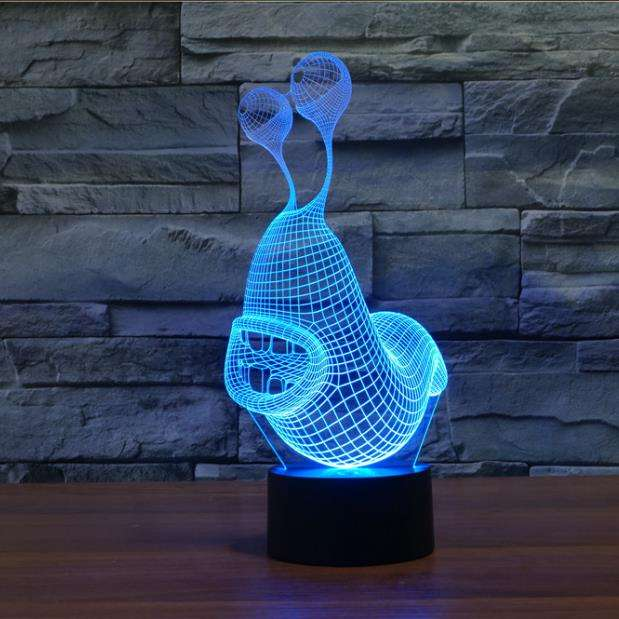 Slug 3D Night Light LED Remote Touch Table Lamp Christmas Atmosphere Lampara Snail 3D Lamp 7 Color Changing USB Indoor Lamp