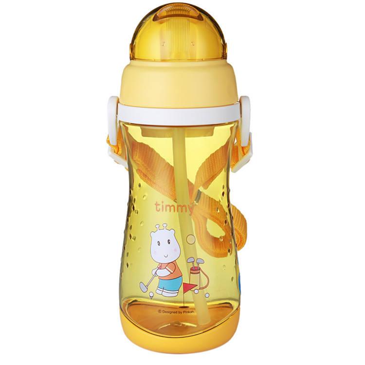 Pinkah شخصية شعار الجملة غير سامة bpa الحرة زجاجة المياه البلاستيكية للأطفال المدرسة