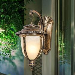 European style LED vintage security aluminum garden lights o