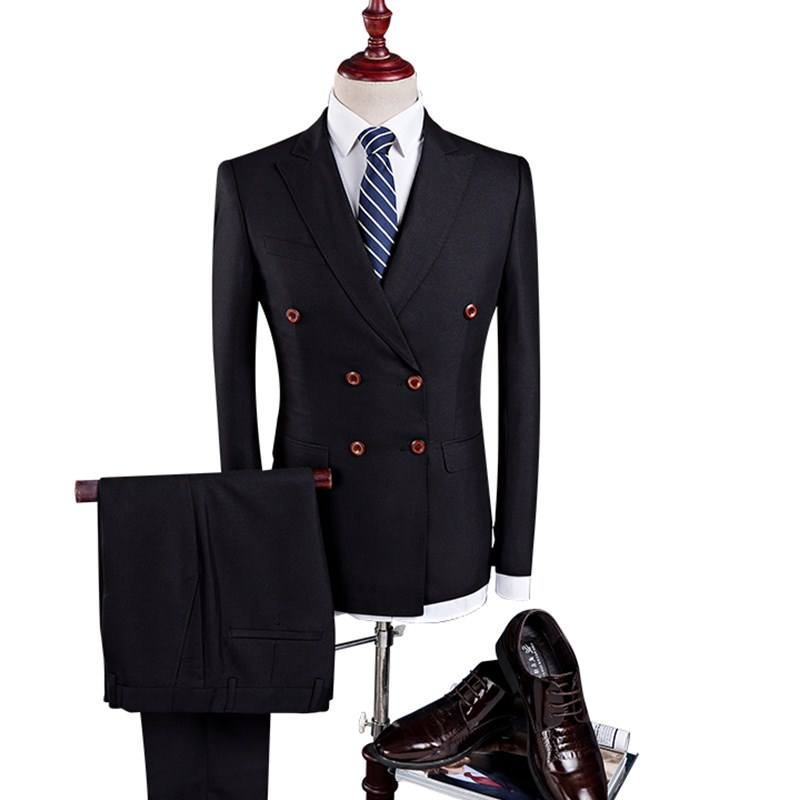 3 Pieces Slim Fit Casual Wedding Tuxedo Suit Male
