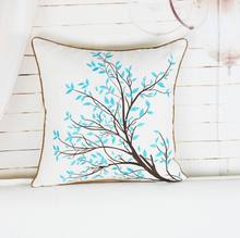 Latest design cheap wholesale 100% cotton embroidery cross stitch decorative pillow for sale