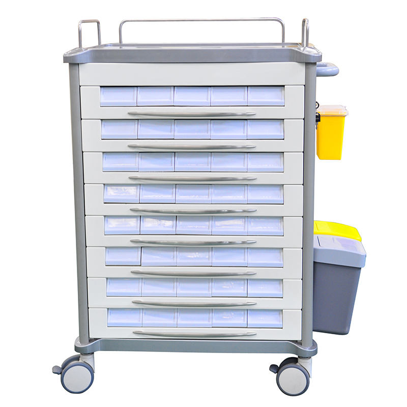 Factory direct sale ABS medicine distribution cart medical