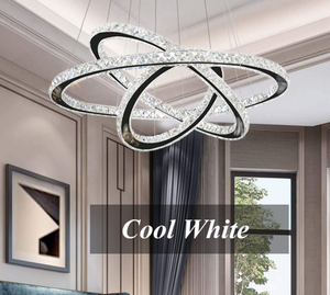 Modern DIY Shape Cold White and Warm White Led Ceiling Light Fixtures Chandeliers Crystal for Home Hotel Restaurant Lighting