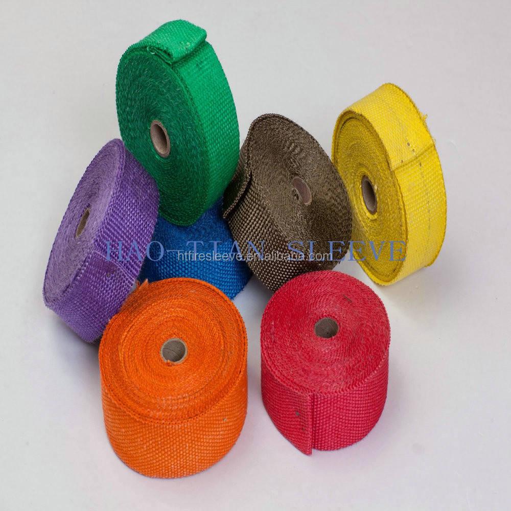 "30Ft X 2/"" X 1.5mm Fiberglass Heat Wrap Shield Cover Muffler Down Pipe Kit Red"