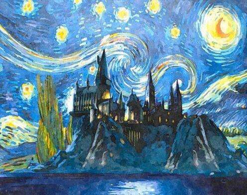 21183 Castle Starry Sky - DIY Paint By Numbers
