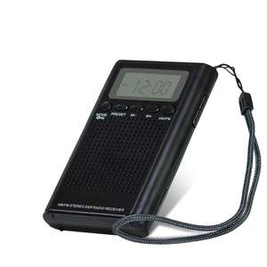 Factory price (high) 저 (quality mini 휴대용 digital fm am radio 와 clock LCD display mini radio-buy7days