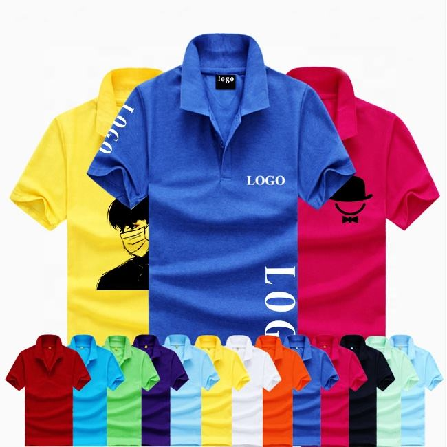 Factories wholesale custom polo shirts for men 100% cotton