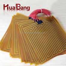 Thin flim 12v/24v kapton polyimide heating element for 3d printer
