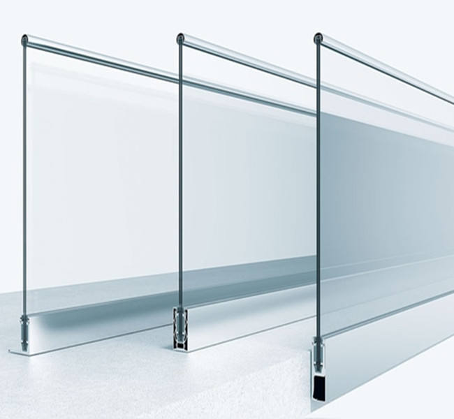 Invisible Hand Price Parapet Staircase Glass Railing Design
