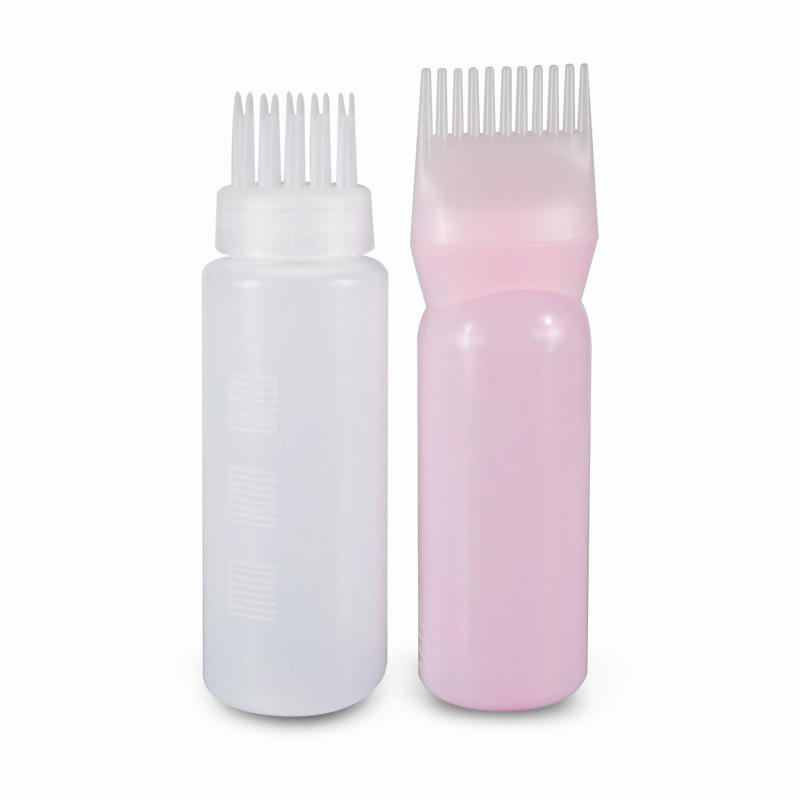 Salon Hair Coloring Styling Tools Plastic Dyeing bottle with brush applicator