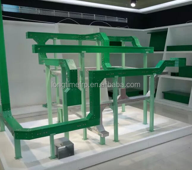 Green color frp cable tray FRP cable bridge Epoxy composite cable tray