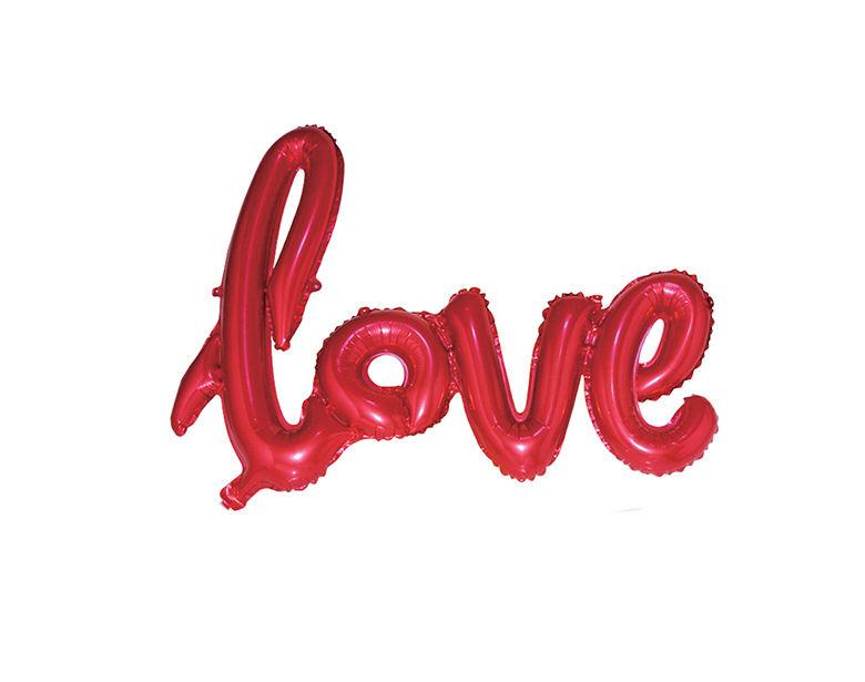 China fabricante logotipo personalizado cor vermelha amor carta balão dos namorados