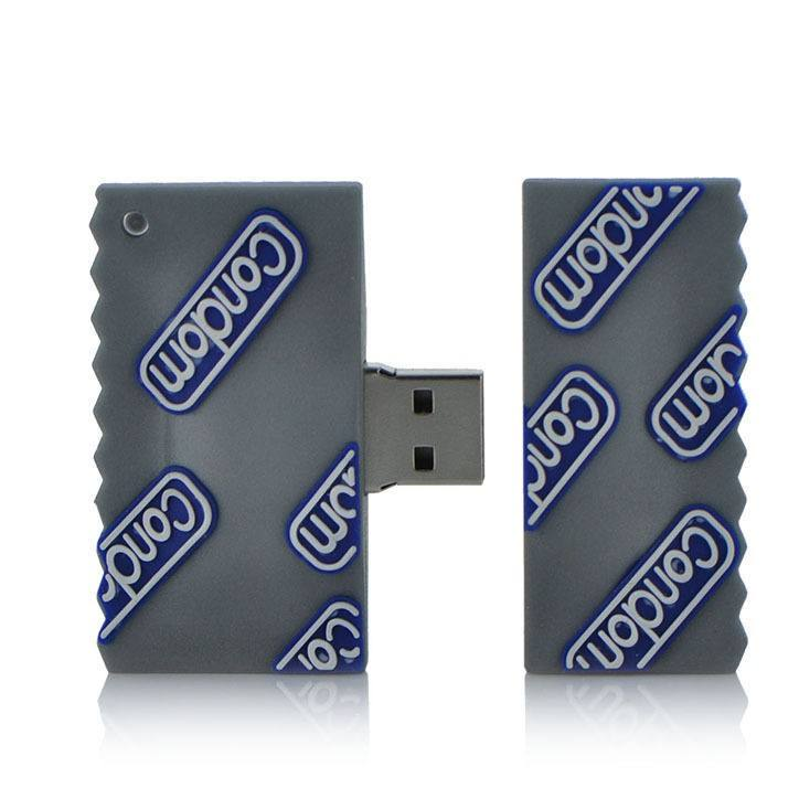 New Funny Condom Cartoon Model USB2.0 8GB-64GB flash drive memory stick pendrive