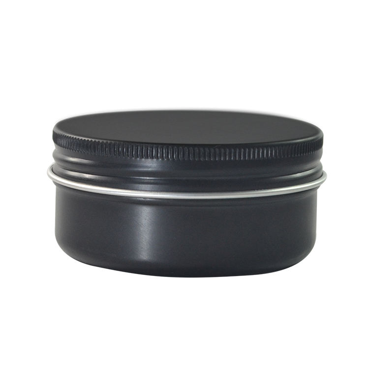 hot sale primary black 5ml 10ml 15ml 30ml 50ml 60ml 80ml 100ml 150ml tin container black candle aluminum jar for cosmetic cream