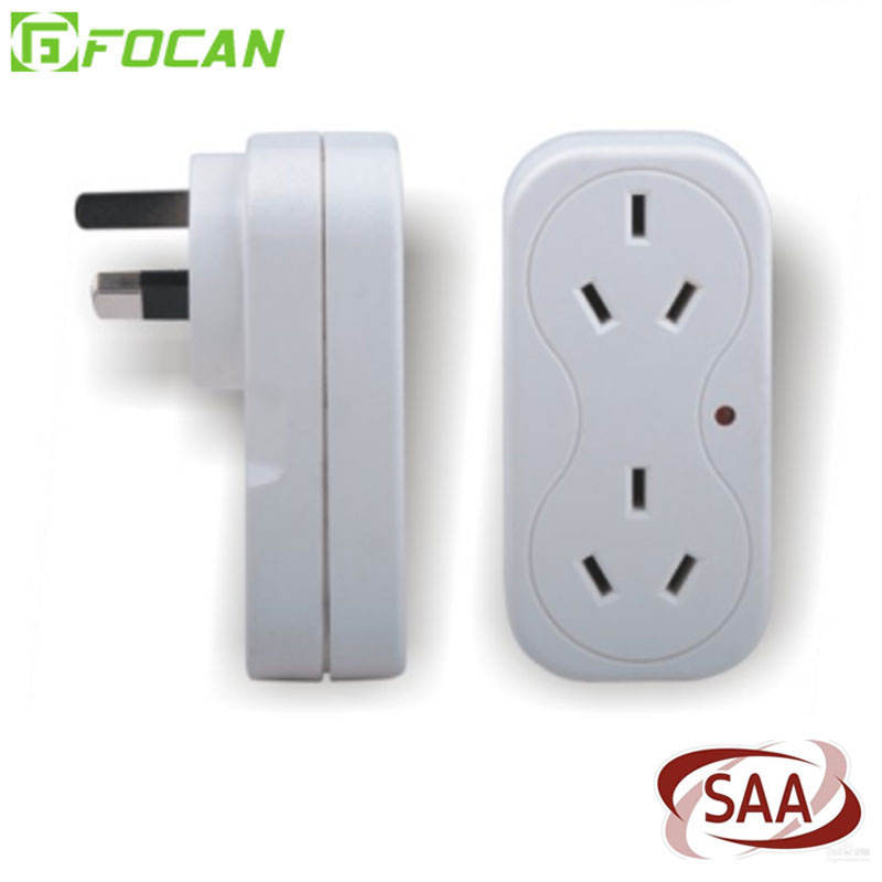 2 Soket 2 USB 2.4A Power Adaptor/Surge Adaptor 2 Port USB Travel Charger Dinding USB Saa Surge Protected