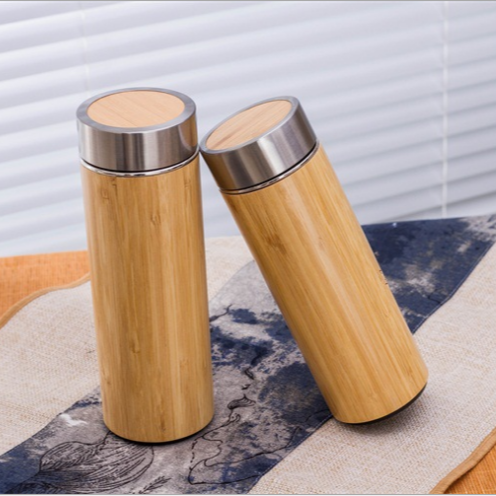 Double Wall Vacuum Insulated Travel Mug Factory Price Nature Bamboo Vacuum Flasks & Thermoses Stainless Steel