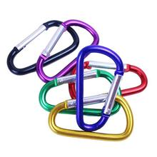 HXY Large Stock 5CM D Shape Mini Aluminum Carabiner For Promotion Gift 46.5*24*4.0MM
