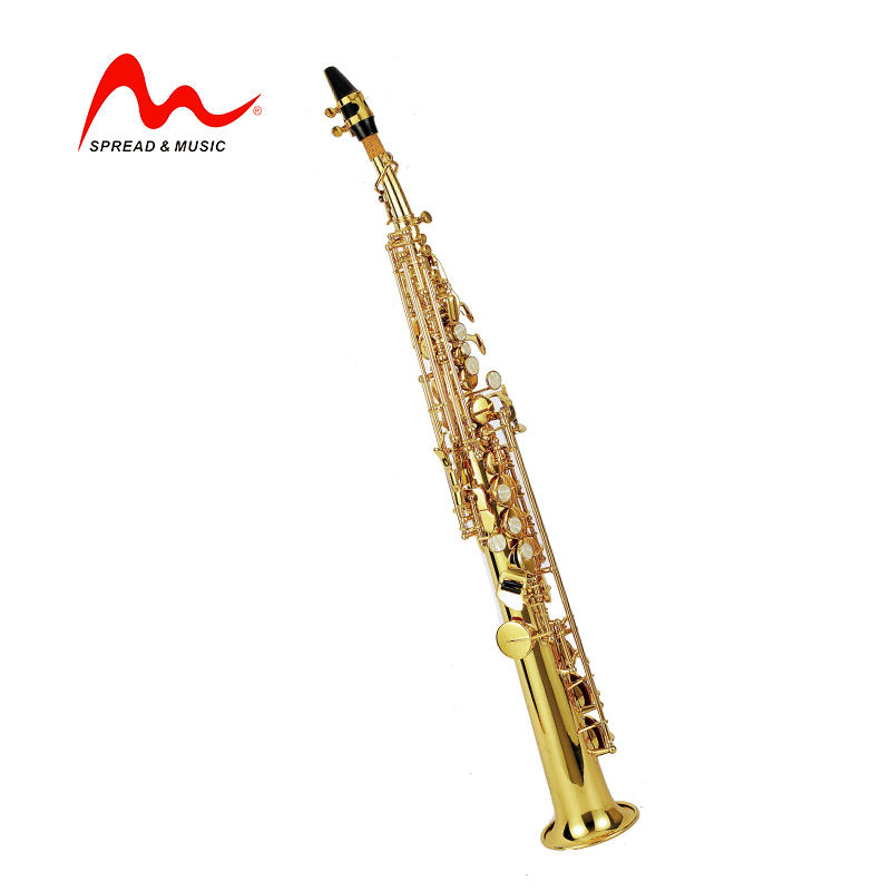 soprano trumpet wind instruments golden lacquer B flat wholesales wind instruments