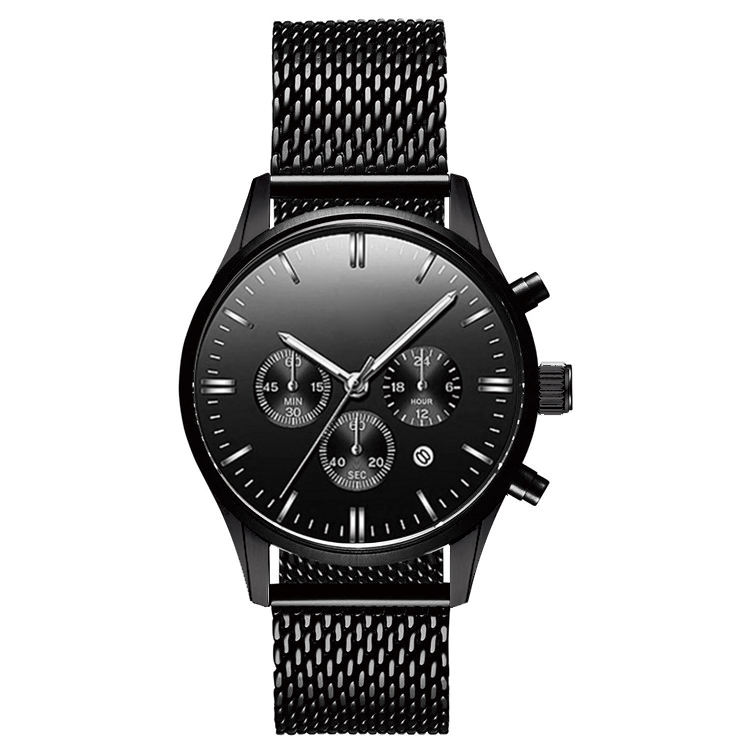 Top Sellers 2019 For Amazon Minimalist Luxury Chronograph Stainless Steel Watches Men Low MOQ OEM Watch