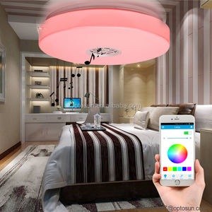 Bluetooth speaker led light thuis plafondlamp 24 w rgb led lichtpunt van plafond