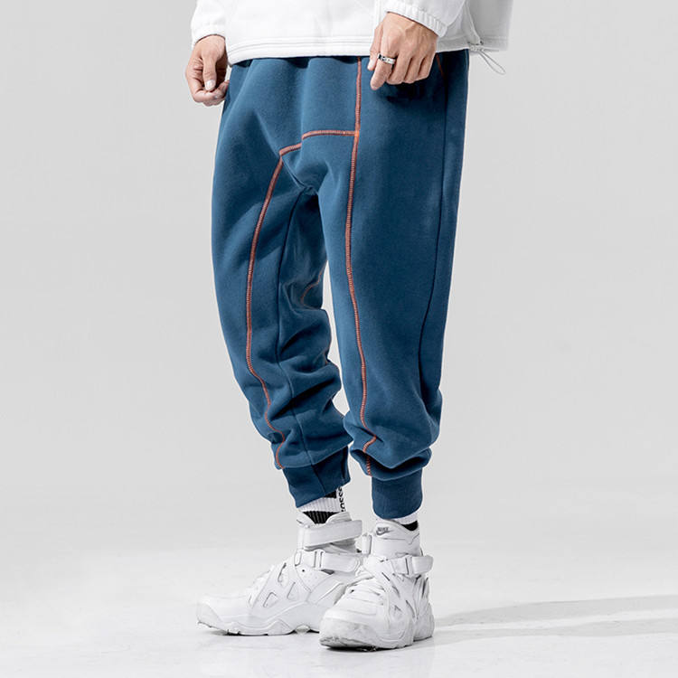 Hot Custom Streetwear Blank High Quality Cotton Tech Fleece Mens Baggy Tapered Track Jogger Pants