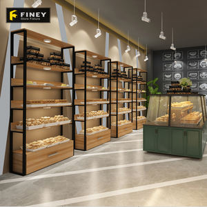 Brood Display Showcase Bakkerij Winkel Armatuur Brood Display Rack Populaire Houten Brood Display Plank